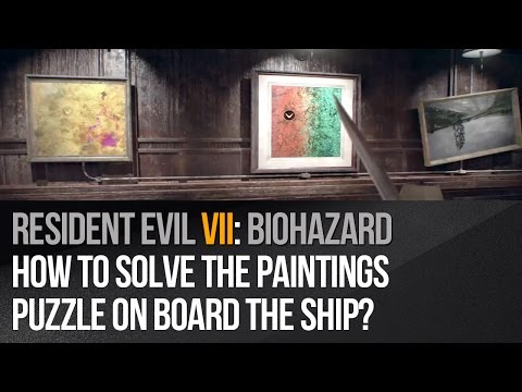Resident Evil 7 – How to solve the paintings puzzle on board the ship?