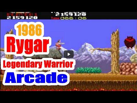 1986 Rygar Legendary Warrior Arcade Old School Game Playthrough Retro Game