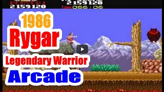 1986 Rygar Legendary Warrior Arcade Old School Game Playthrough Retro Game