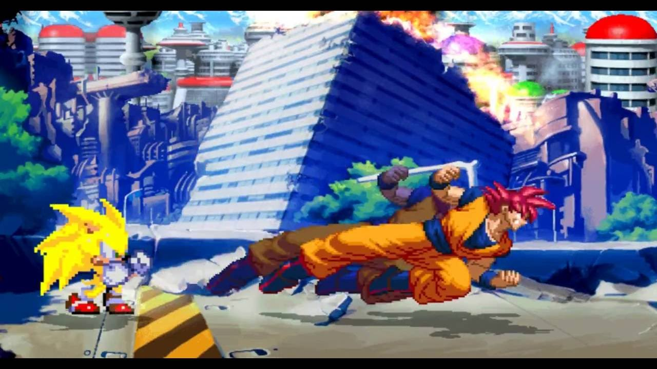 Goku Deus Vs Ultimate Sonic