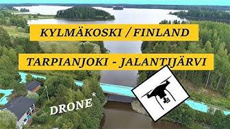 Tarpianjoki - Jalantijärvi / Kylmäkoski, Finland - drone 4K