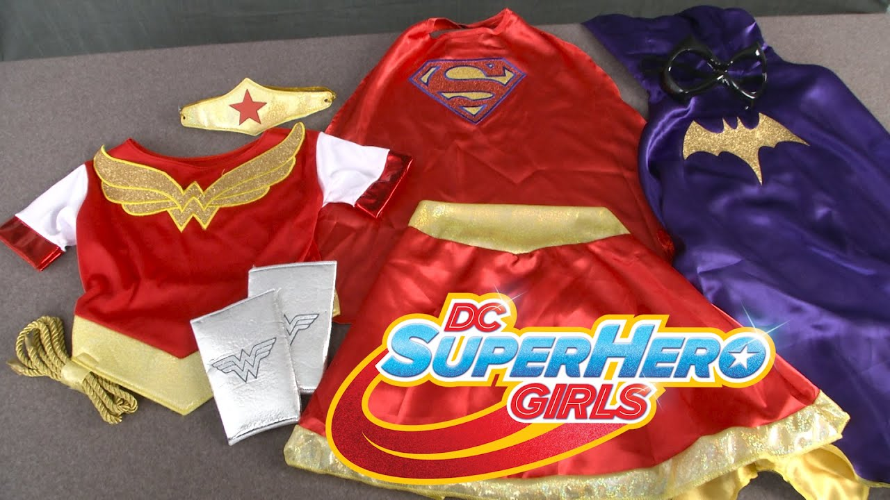 DC Super Hero Girls Batgirl Supergirl u0026 Wonder Woman Costumes from Rubies - YouTube & DC Super Hero Girls Batgirl Supergirl u0026 Wonder Woman Costumes from ...