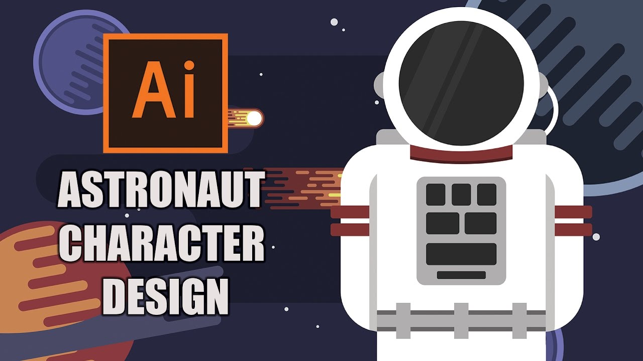Flat Character Design Tutorial : Illustrator tutorial astronaut flat character design
