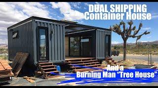 "Exploring Weird Joshua Tree, Ca- Shipping Container Tiny House +burning Man Festival ""tree House"""