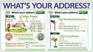 What is your address? Baṡic English Lesson - Your address in English
