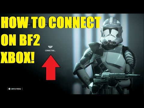 Star Wars Battlefront 2 - How To Connect To BF2 On XBOX!   Boba Fett Carried Droids On Theed!