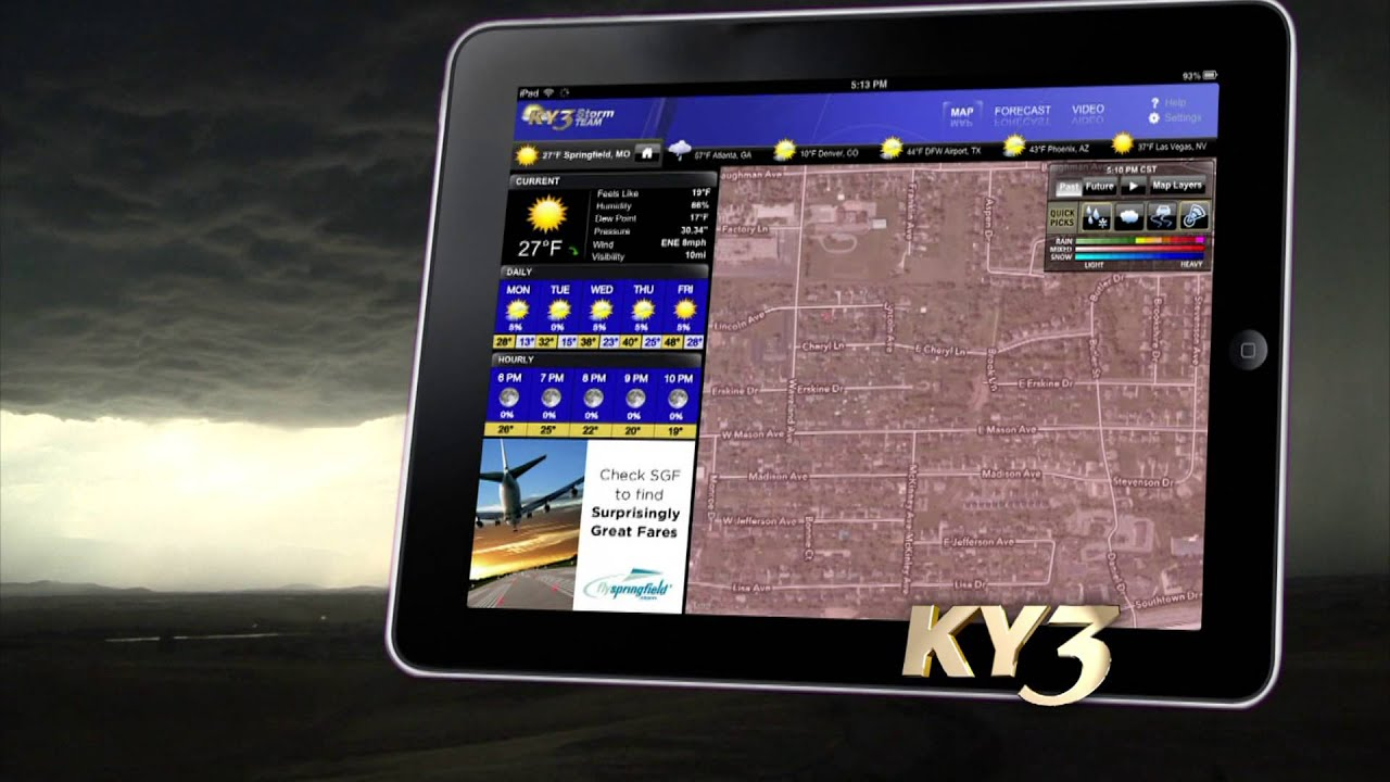 KY3 Weather App- Mobile Forecaster