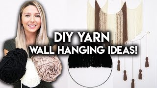 DIY ROOM DECOR IDEAS | YARN WALL HANGING
