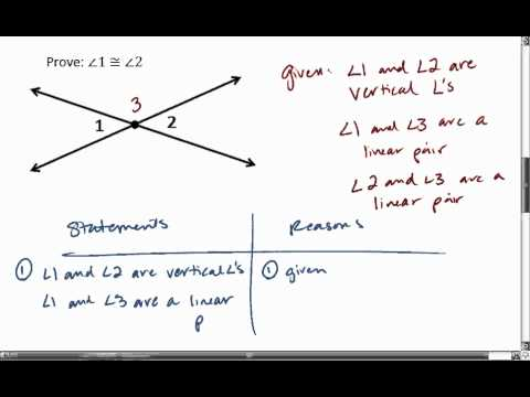 2 6 2 Of 2 Proof Vertical Angles Are Congruent