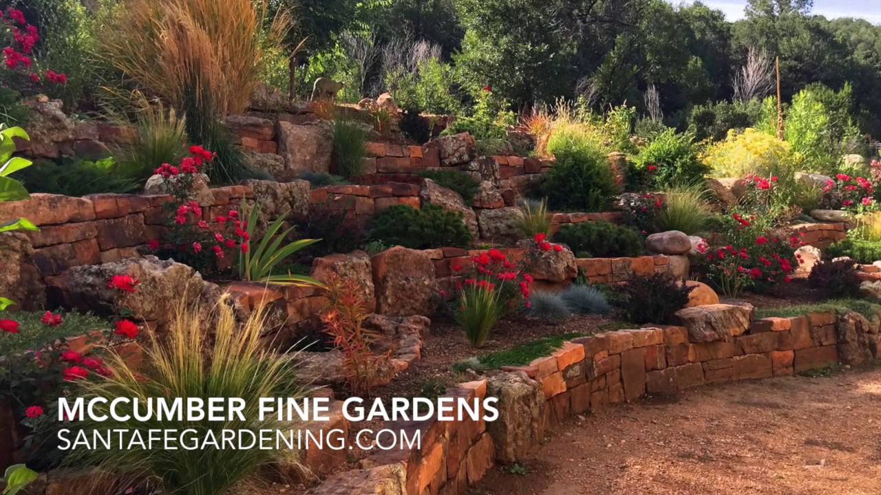 Xeriscaping In Santa Fe New Mexico Mccumber Fine Gardens Youtube