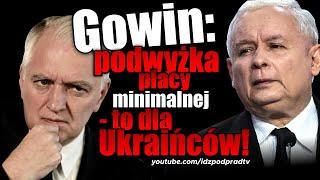 Gowin: podwyżka płacy minimalnej - to dla Ukraińców! IDŹ POD PRĄD NA ŻYWO 2019.09.11