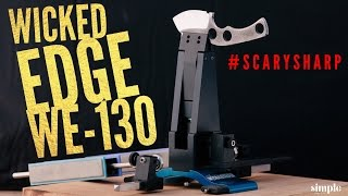 THE BEST KNIFE SHARPENER in the World?  -Wicked Edge WE-130 Review
