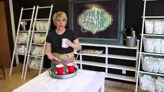 How To Paint Furniture : Getting An Ultra Smooth Finish with Chalk - Type Paints