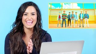 Baixar DEMI LOVATO REACTS TO K-POP [BTS + TWICE + RED VELVET]