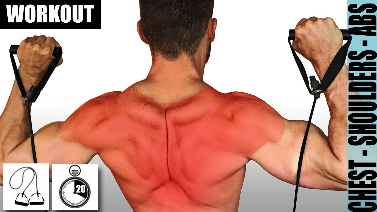 Resistance Band Back And Shoulder Workout For Strength And Growth
