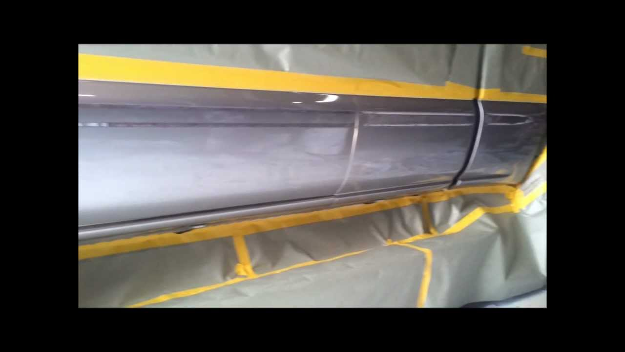 Line X Painted Truck >> GMC Sierra rocker panels sprayed with Rhino Lining coating - YouTube