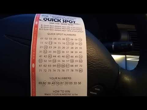 Ohio Lottery $10 Quickspot Progressive winner!!!