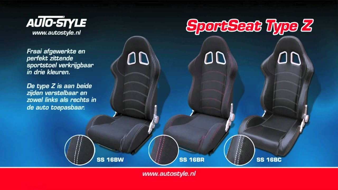 Autostyle Sport Seat Type Z Black CarbonLook dual side