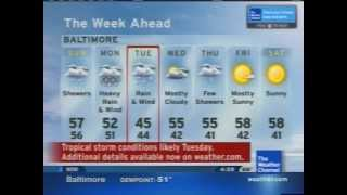 The Weather Channel - Local on the 8s with tropical storm information - October 27, 2012