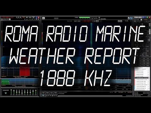"""Roma Radio """"IAR"""" Marine Meteorological Broadcast - 1888 kHz"""