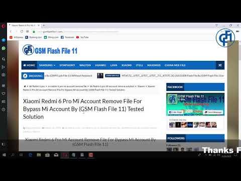 MI Redmi 6 Pro Mi Account & FRP Bypass File By (GSM Flash File 11