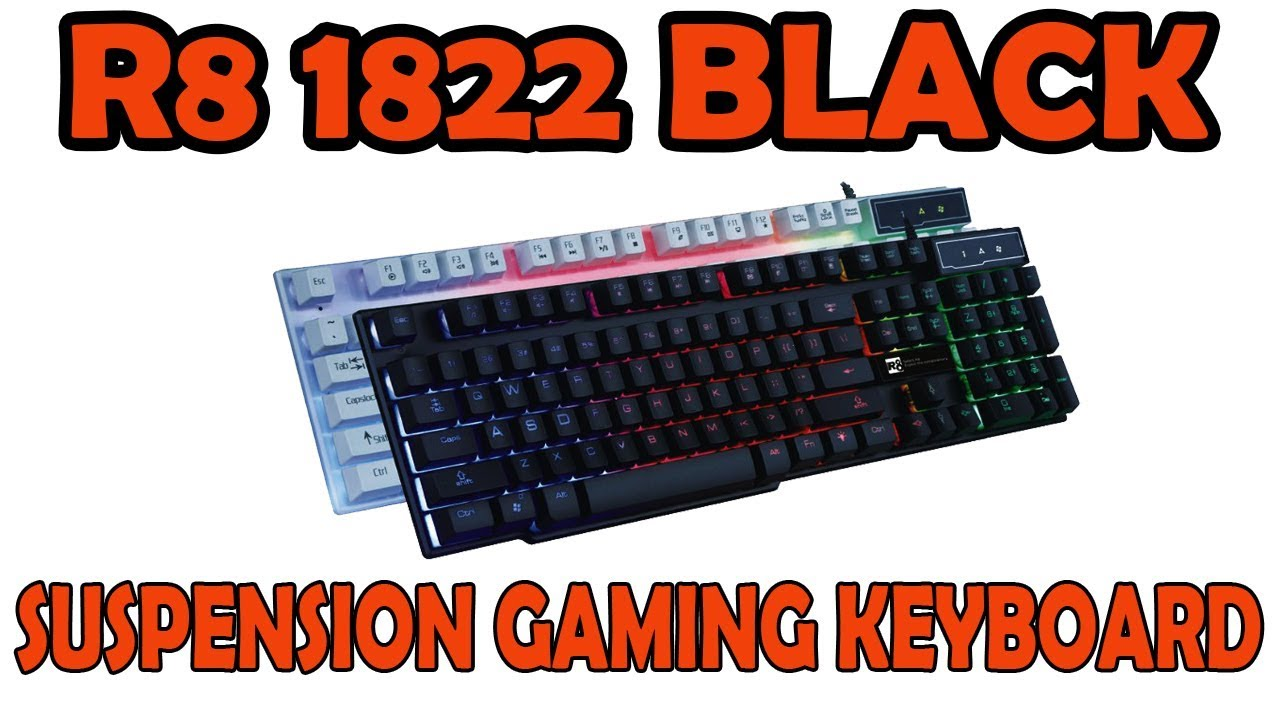 b9c563027d1 R8 1822 Suspension Gaming Keyboard Unboxing - YouTube