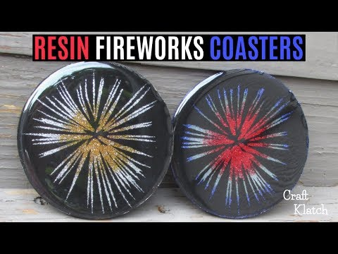 DIY 4th of July Fireworks Coasters | Another Coaster Friday | Cricut Crafts | Craft Klatch
