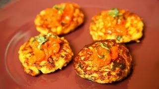 Home-made Organic Zucchini Fritters By Megha