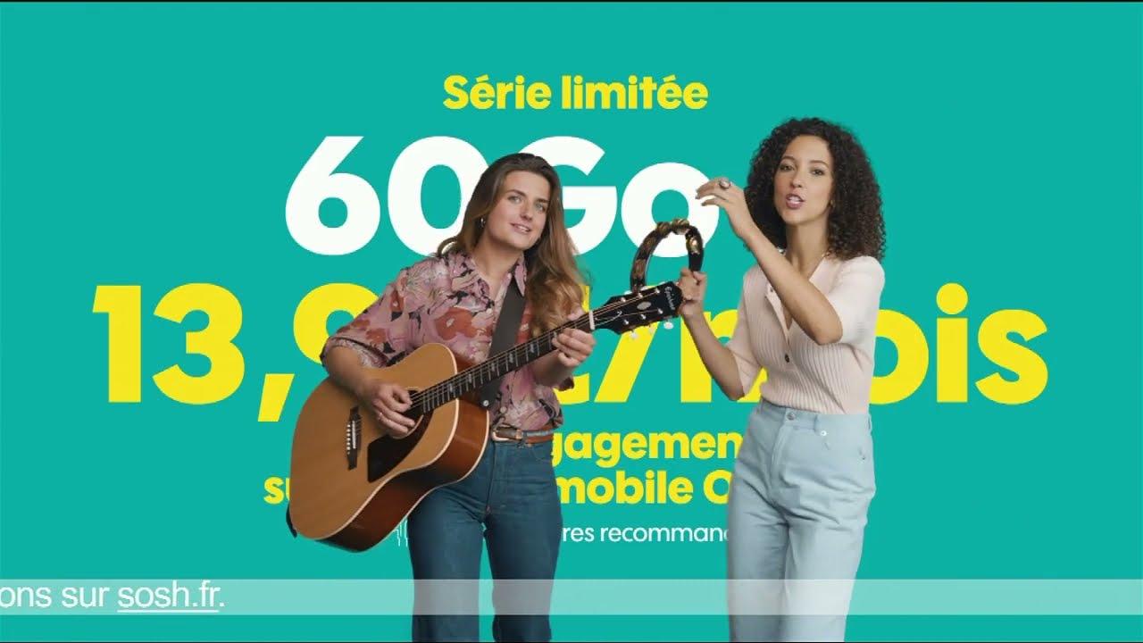 """Musique de la pub Sosh forfait mobile série limitée 60  Go """"en chanson""""  2021"""