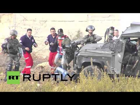 State of Palestine: Israeli military vehicle taken out with Molotov Cocktails