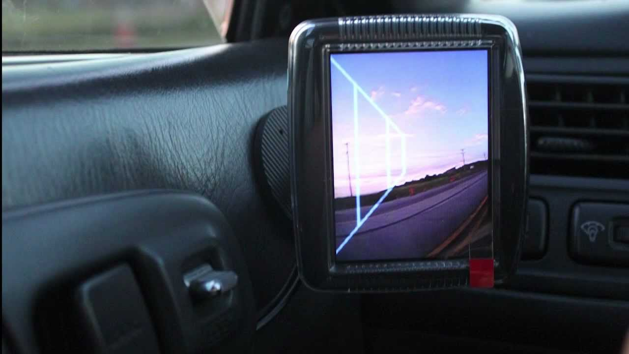 1996 Honda Civic EX - Outside Mirror Removed, Replaced with Wide Angle Camera and LCD - YouTube