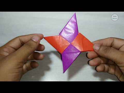 How to make a Paper Ninja Star Origami || Paper craft || Paper Art