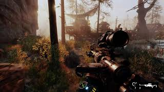 Metro Exodus - The Taiga: Proceed To The Dam: Attack Pirate Swamp Base: Lower Boat In Water (2019)