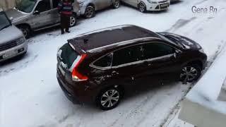 Авто приколы зима