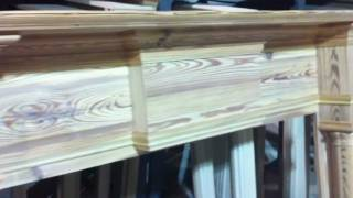 Exquisitely Rustic Pine Fireplace Mantel