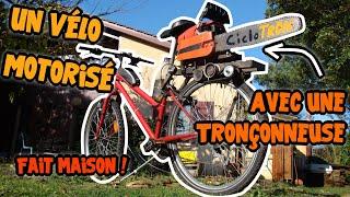 Mon vélo a moteur de tronçonneuse: Le CicloTRON Reloaded