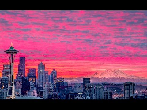 Winter Drive Through Tacoma/Seattle, Washington 1080p