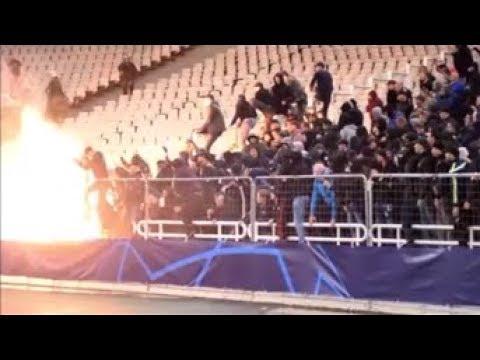 Riots: AEK - Ajax ...and Molotov cocktail. 27.11.2018