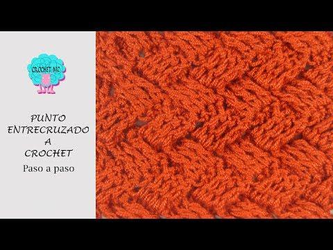 Tutorial punto entrecruzado en plano y circular a crochet