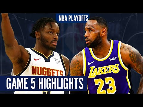 NUGGETS vs LAKERS GAME 5 - Full Highlights   2020 NBA Playoffs