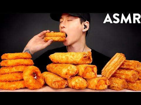 asmr-onion-rings-&-egg-rolls-mukbang-(no-talking)-eating-sounds- -zach-choi-asmr