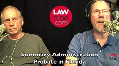Summary administration probate in Florida