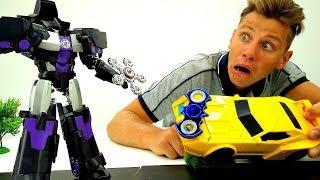 Игры #Трансформеры Битва со #СПИННЕР Оружием ߷ #АВТОБОТЫ vs ДЕСЕПТИКОНЫ Видео игрушки для мальчиков