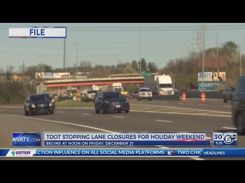 Tennessee to halt most highway construction during holidays