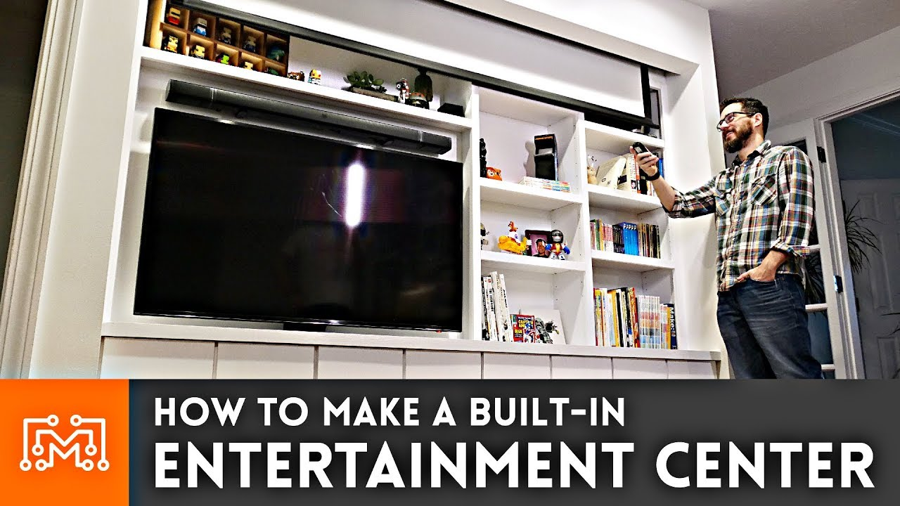 How to Make a Built-In Entertainment Center - YouTube