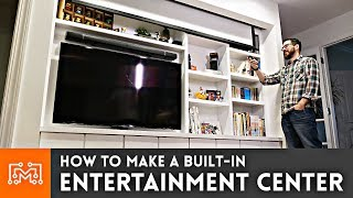 How To Make A Built In Entertainment Center