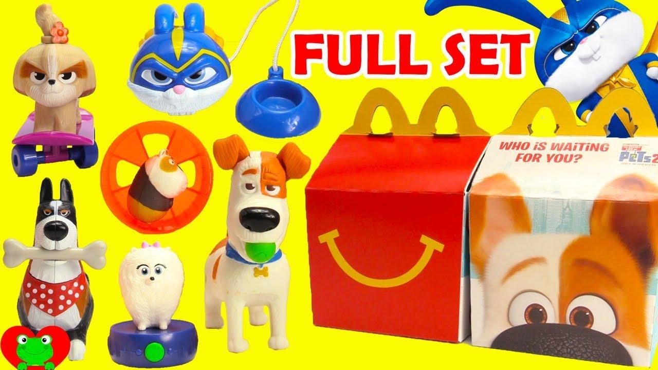2019 Secret Life of Pets 2 McDonald's Happy Meal Toys Full ...