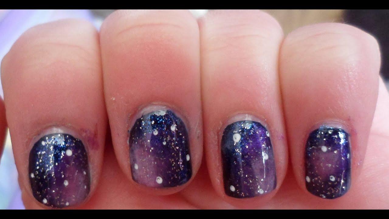 Galaxy cosmic nail art tutorial hd youtube prinsesfo Choice Image