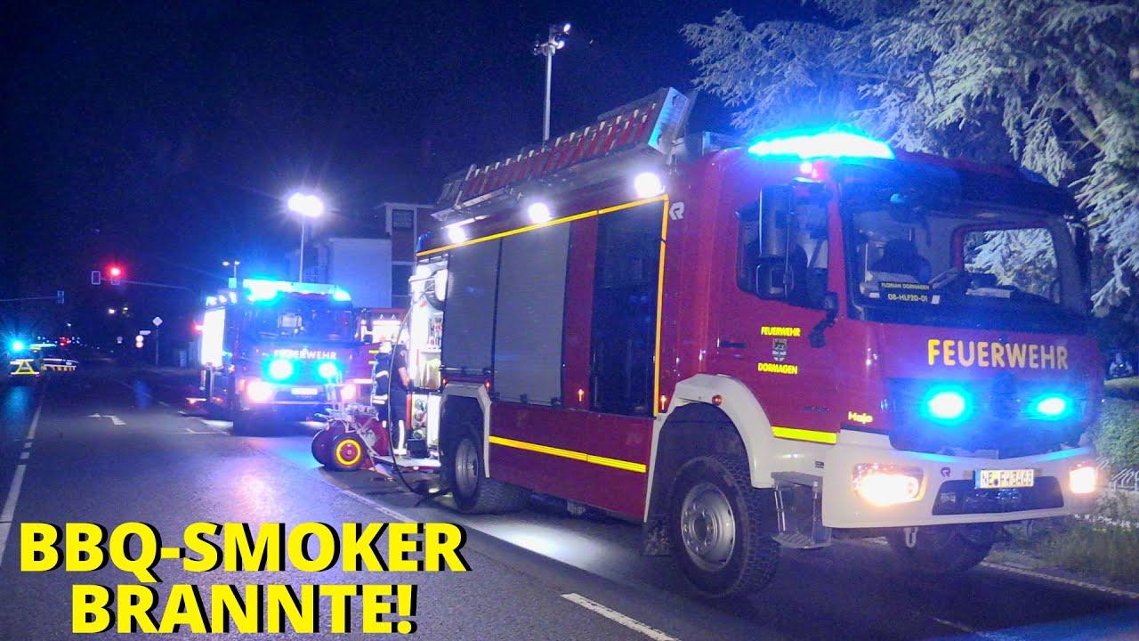 [BARBECUE-SMOKER IN VOLLBRAND] - Brandausbreitung auf Hecke ~ Feuerwehr Dormagen im Einsatz -