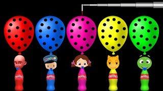 Niloya Mıncır ve Play Doh Oyun Hamuru Şişeleri İle Renkleri Öğreniyorum.